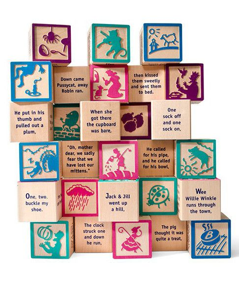 Made in USA baby blocks - Nursery rhyme