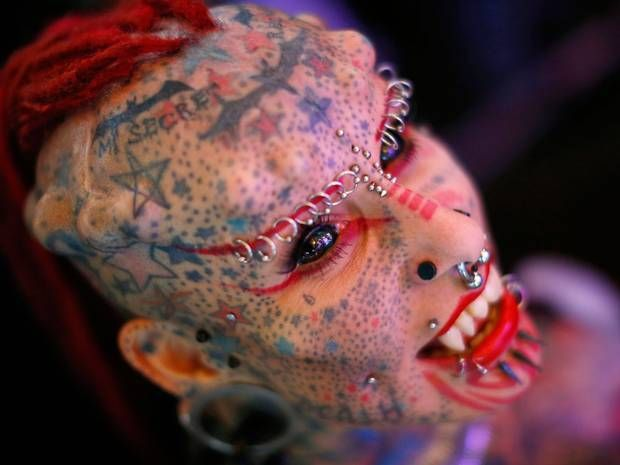 Venezuela Expo Tattoo 2015: Extreme body art from 'Vampire Woman' to 109mm earlobes - News - Art - The Independent