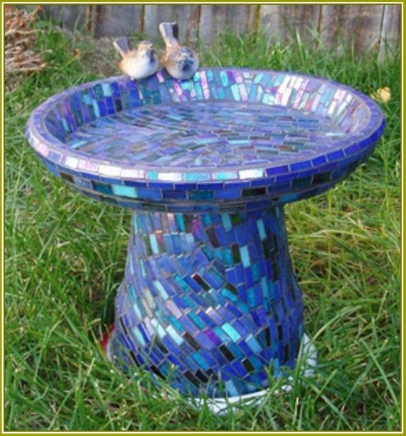 Mosaic Bird Bath Ideas