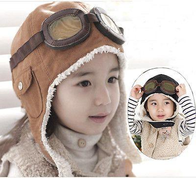 New-Warm-Baby-Kid-Toddler-Boys-Girls-Winter-Earflap-Pilot-Cap-Aviator-Hat-Beanie
