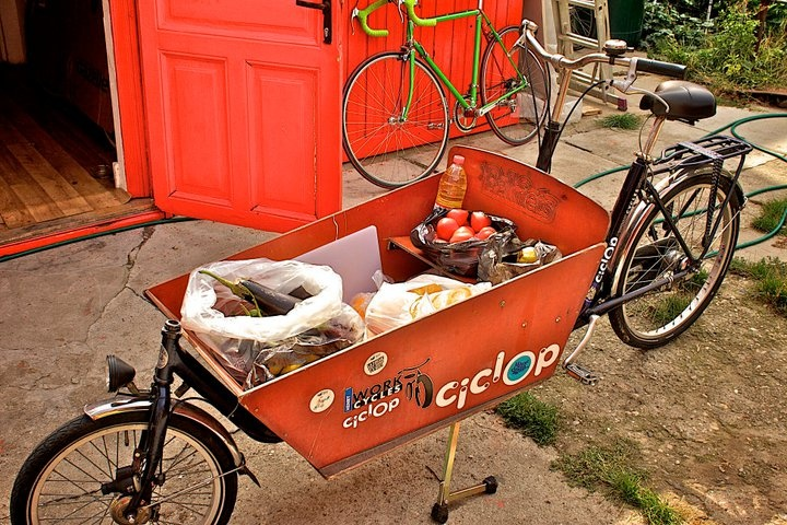 Cargo bringing salad ingredients