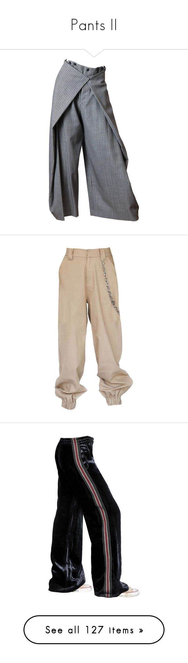 """""""Pants II"""" by stylebyvic ❤ liked on Polyvore featuring pants, bottoms, legs, multiple, fold over pants, jean paul gaultier pants, jean-paul gaultier, victorian pants, fold pants and navy"""