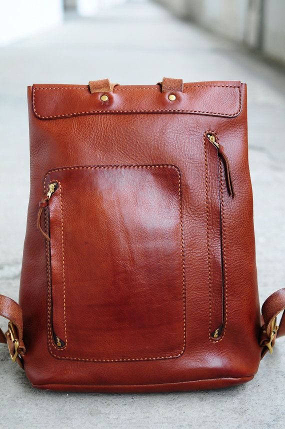 Artemis Leatherware Hand-Stitched Carry on bag with good quality vegetable tanned cow leather - With 1 small pocket at the back of bag - Adjustable strap - Can  AUD~$530
