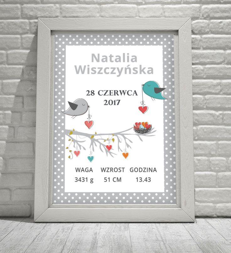 Metryczka dla dziecka   www.sklep.neinka.pl