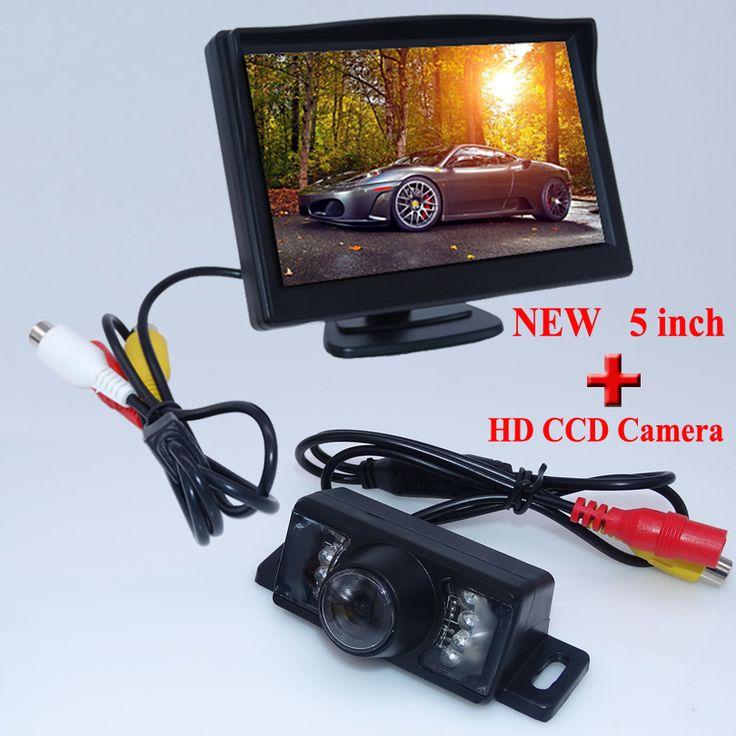 """7 светодиодные фонари новое прибытие автомобиль обращая камеру принести высокое ночного видения + универсальный 5 """"задний монитор для всех типов автомобилей"""