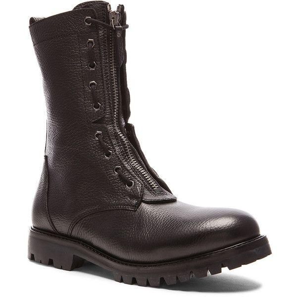 Helmut Lang Combat Boots (€375) ❤ liked on Polyvore featuring men's fashion, men's shoes, men's boots et boots