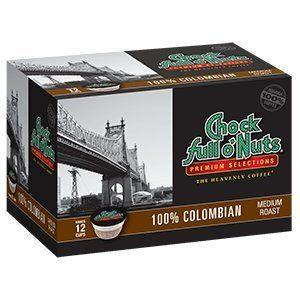 Chock full o'Nuts COLUMBIAN Medium Roast 12 cts. (Pack of 2) *** You can find more details at http://www.amazon.com/gp/product/B00YFB9ZHE/?tag=pincoffee-20&pkl=200716040230