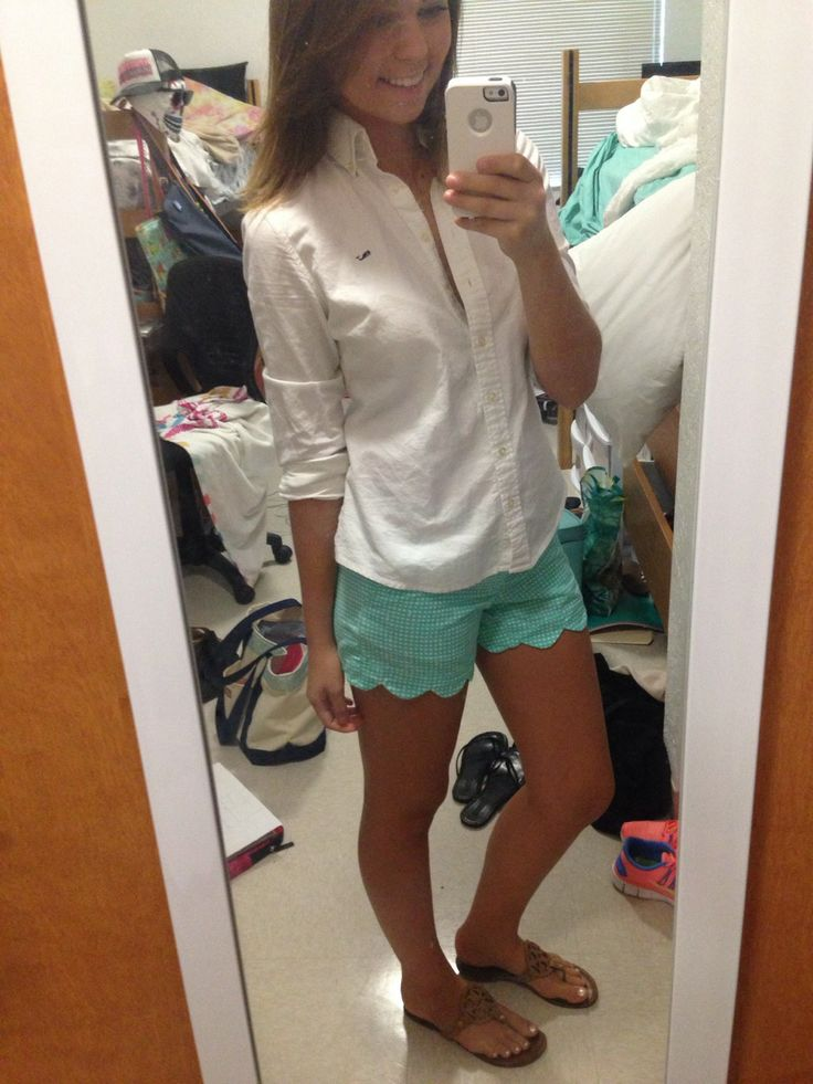 love the mint shorts with cuffed long sleeved top