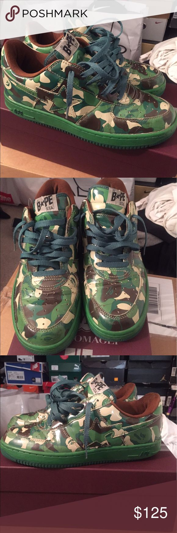 Bape Apes   Bape Apes   condo 7/10 flaws some heel drag as shown in the picture Bape Shoes Sneakers