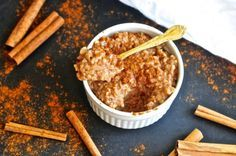 This recipe for Cauliflower Rice Pudding is amazing! This grain free pudding is chewy, sweet, and perfectly satisfying. You can't even tell that is uses cauliflower!Fat free, sugar free, paleo, vegetarian, gluten free and PERFECT