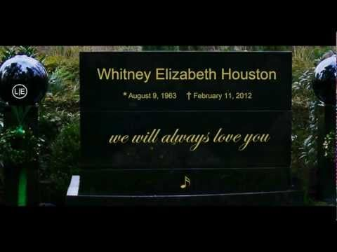 Whitney Elizabeth Houston grave HEADSTONE Funeral service burial - Remembering the VOICE*