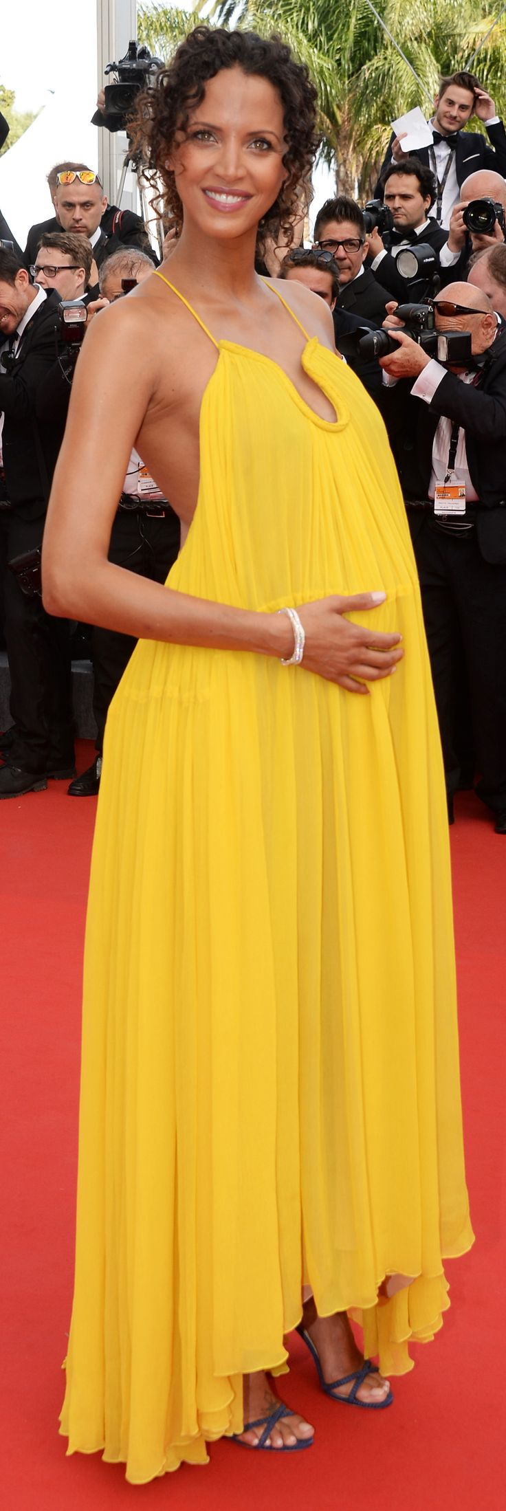 Noémie Lenoir shone bright in our #SS15 flou dress on the red carpet at the film festival in Cannes, May 2015. #chloeGIRLS