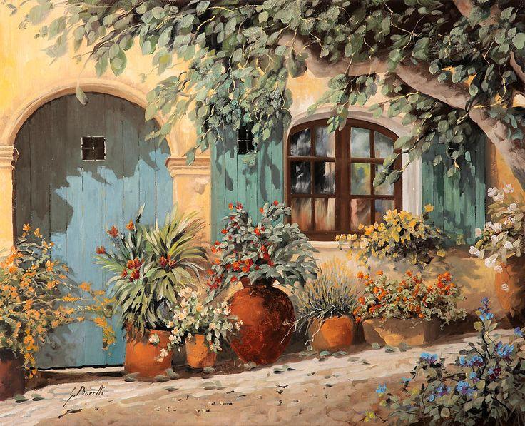 La Porta Azzurra Painting