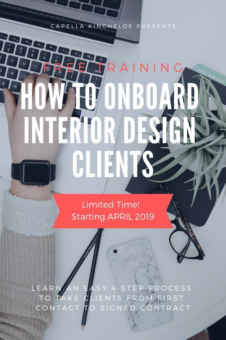 Free Training How To Onboard Interior Design Clients Signing