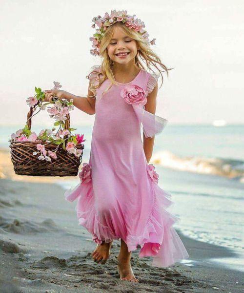 Cortège fille en rose