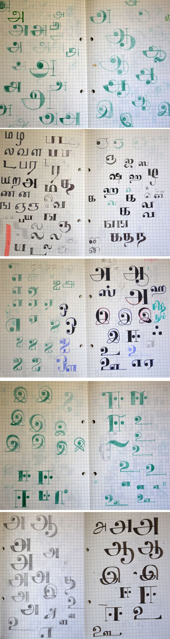 Tamil lettering - Work in progress on Typography Served