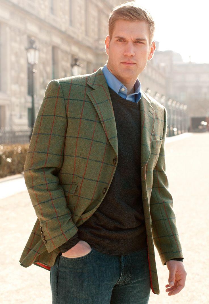 Yorkshire Moons Fabric Tweed Tweed Jacket Men Harris