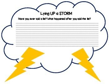 Lying UP a STORM- Writing about a time you lied.