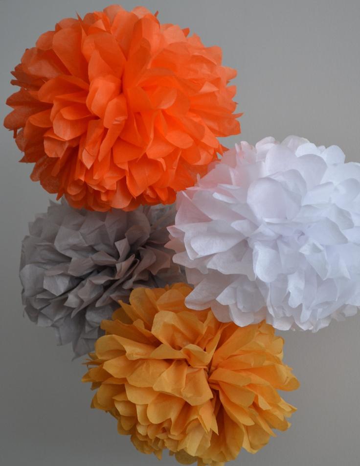 Tissue Paper Pom Poms or Tissue Paper