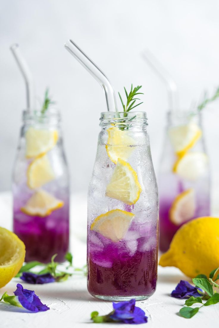 Butterfly pea tea lemonade recipe cooking with nart