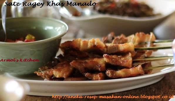 RAGEY - Sate babi khas Manado  Yuk simak resepnya http://aneka-resep-masakan-online.blogspot.co.id/2015/05/resep-sate-ragey-babi-khas-manado.html