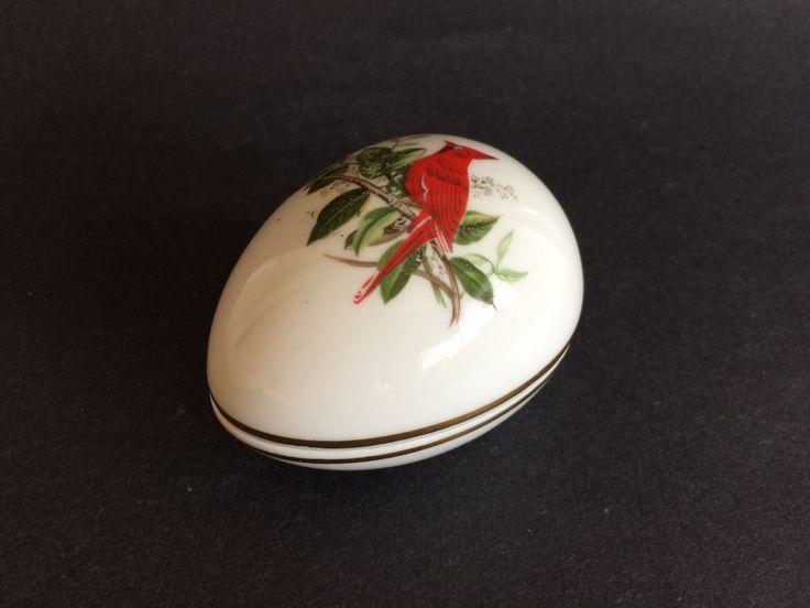 14 best easter 2017 vintage easter gifts vintage easter german china egg shape trinket box red cardinal bird on limb gerold porzellan negle Gallery