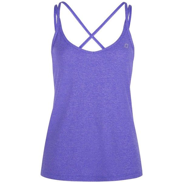 Lorna Jane Spotlight Excel Tank ($65) ❤ liked on Polyvore featuring activewear, activewear tops, purple, sport & fitness, long camisole, lorna jane, lorna jane sportswear, long cami and polyester camisole