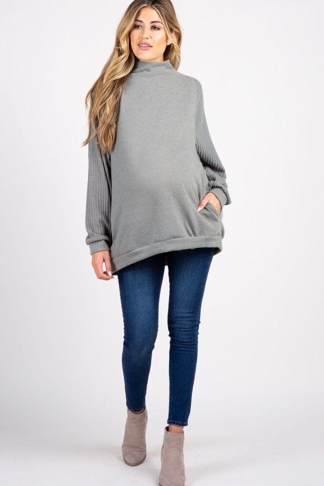 507e0e971cf0e Olive Cowl Neck Dolman Sleeves Top
