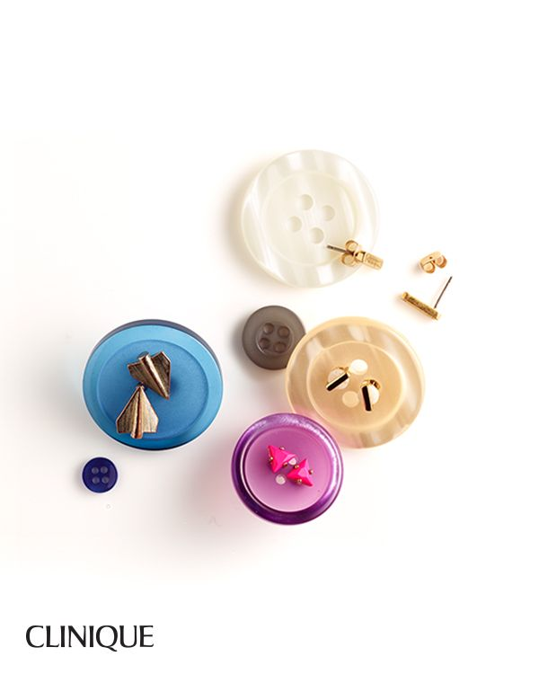 Smart Does More: Use buttons to help keep stud earrings together and organize your jewelry box.