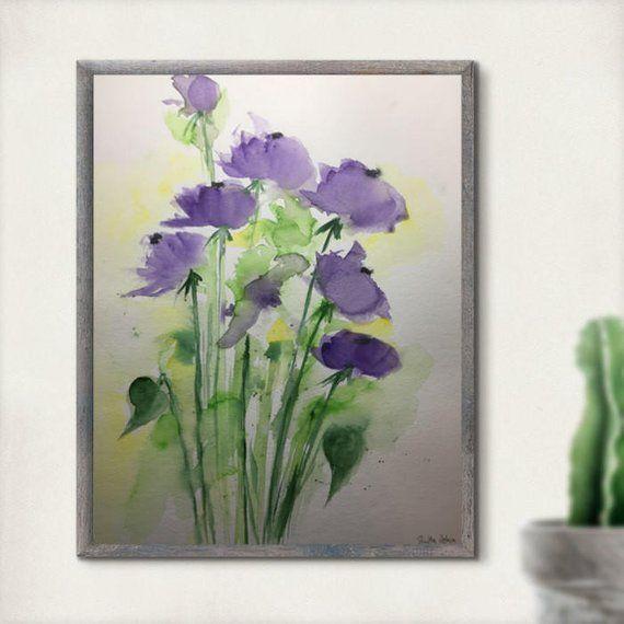 Original watercolor watercolour Paintings flowers image art Watercolor flowers