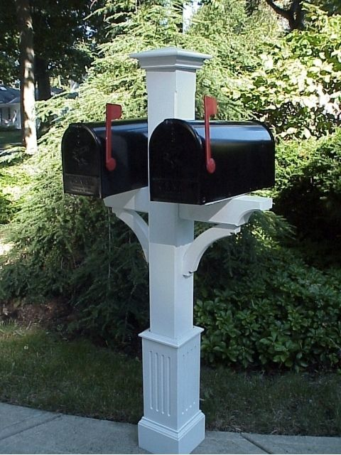 New England Woodworks Mailboxes | Wooden Cedar Double Mailbox Post | Residential Mailbox
