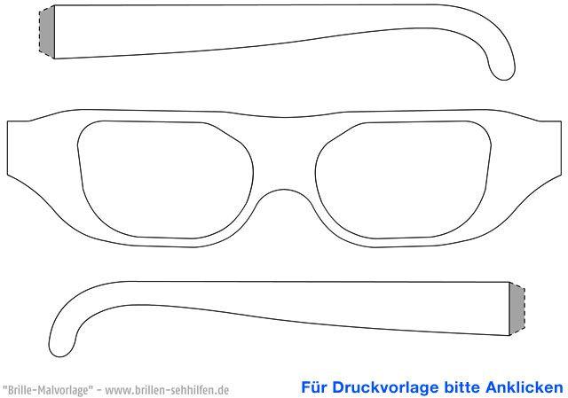 brille 1 malvorlage  basteln geldgeschenk fahrrad