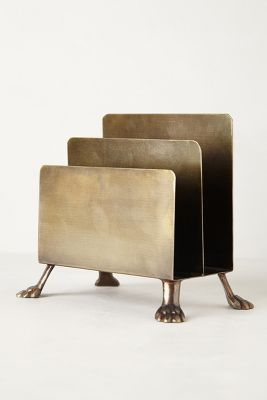 a chic mail sorter in bronze...I think I'll add legs to my black mail sorter! I love the look!