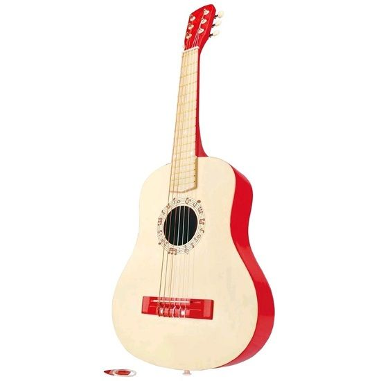 BOUGHT BY NANA & AUNTIE AMANDA  Hape Vibrant Guitar Red
