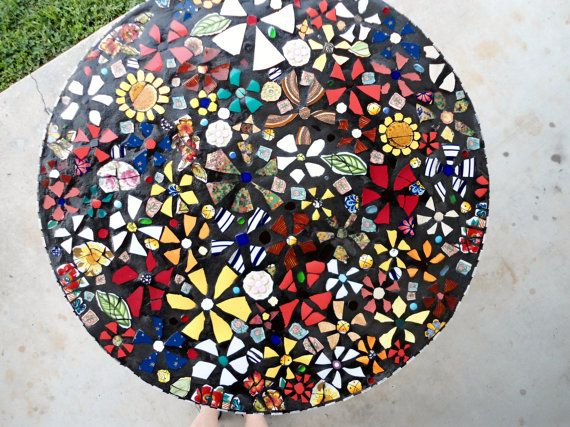 SOLD   36 Piece made MOSAIC TABLE Top /  Direct by JustAboutYou, $550.00