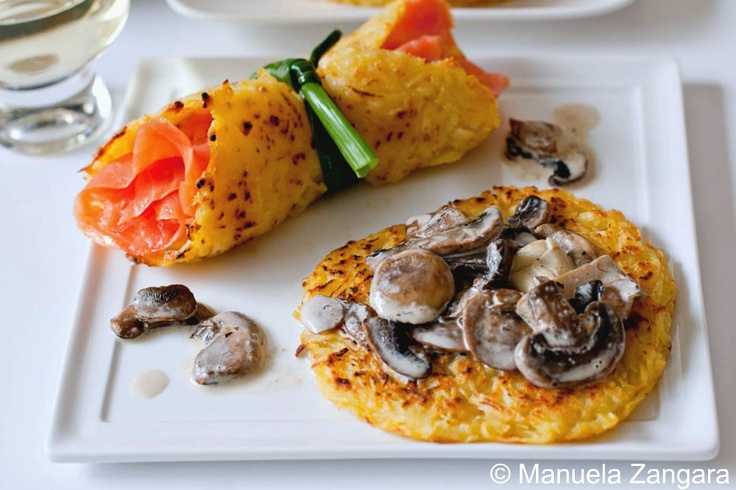 Rösti - Roesti: all you need is potatoes, salt and extra virgin olive oil (or butter). That's it. No eggs required for the original Swiss recipe.