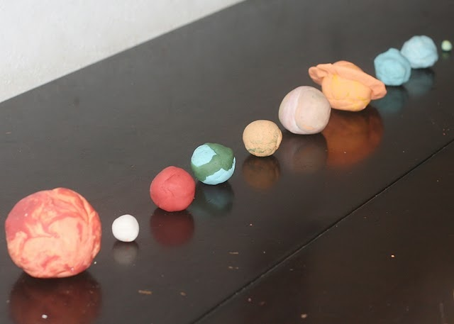 Solar System made of Play Doh