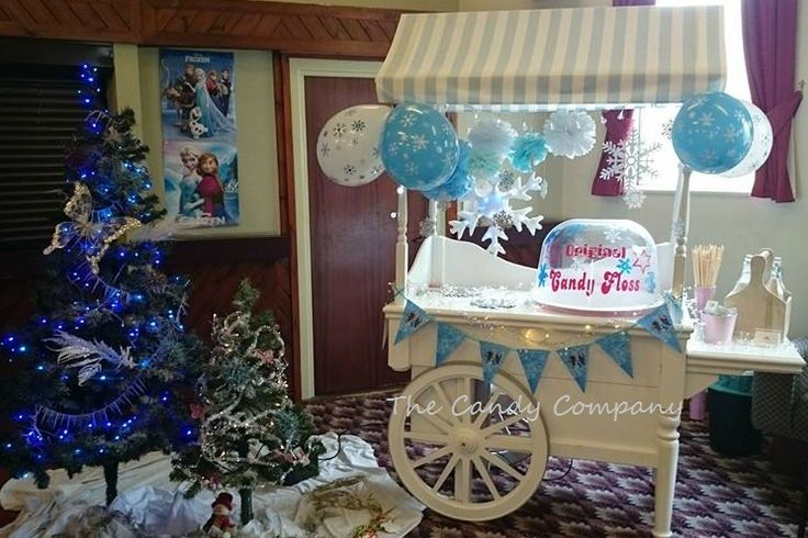 The Candy Company - Candy Floss Cart Frozen Party - Child's Party