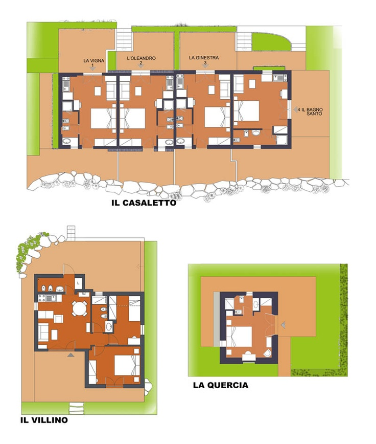 The complete disposition of the Borghetto buildings