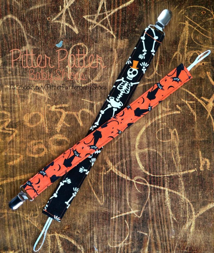 Halloween Pacifier Clips - Binky Clips - Babys 1st Halloween - Black Cats - Baby Accessories - Skeletons - Baby Gifts - Day of the Dead by PitterPatterBabyShoe on Etsy