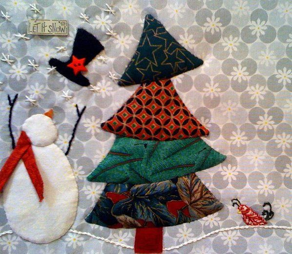Christmas Tree Quilt Pattern Snowman And Christmas Tree