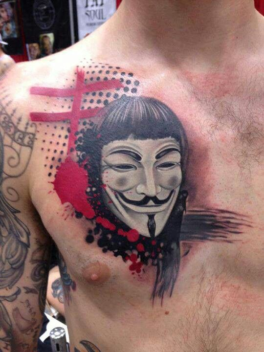V For Vendetta Mask Tattoo 19 best V For V...