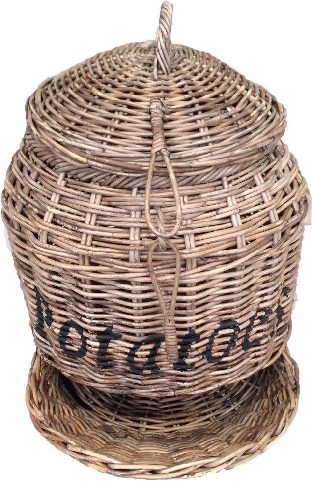 ROTAN-WOONACCESSOIRES een erg makkelijk maand om de aardappelen in op te bergen