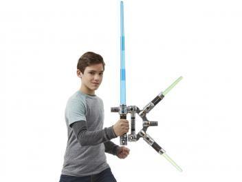 Star Wars Sabre de Luz Mestre Jedi com 2 Adagas - Hasbro