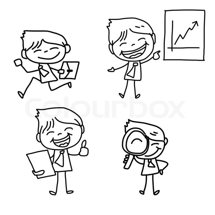 7971120-hand-drawing-cartoon-character-business-person.jpg (800×800)