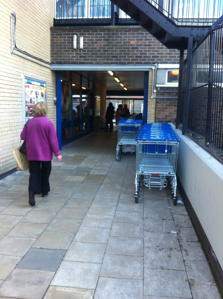 Shopping trolley, external building