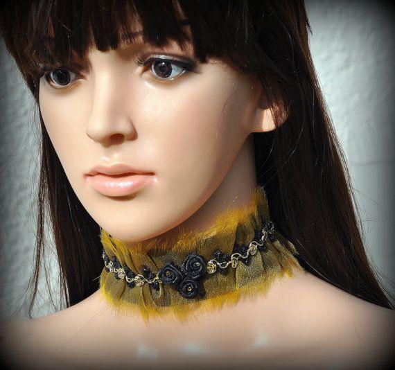 Choker and  bracelet Black Victorian roses set jewellery #gothiclolita #victorianchoker blackpassionuk
