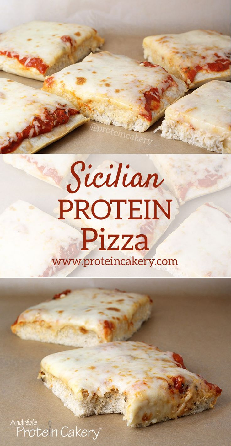 Sicilian Protein Pizza - low carb, gluten free