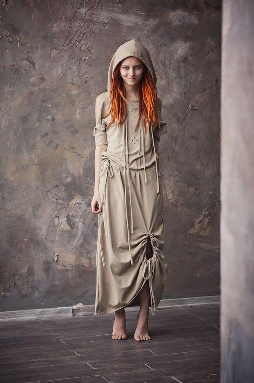 """Купить Платье """"Трансформер - Песочный оазис"""" - песочный цвет, песочный, платье, платье на заказ, не как у всех"""