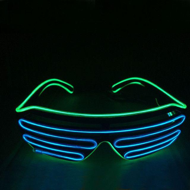 Smart Remote Control Glasses El Wire Fashion Neon LED Light Up